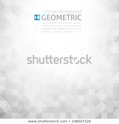 Techno imzalamak kare soyut dijital mavi Stok fotoğraf © romvo