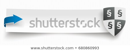 Papier bannière flèche protection bouclier paragraphe Photo stock © limbi007