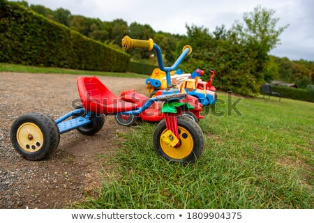 üç tekerlekli bisiklet diğer oyuncaklar örnek spor arka plan Stok fotoğraf © bluering