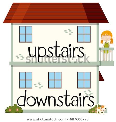 Ellenkező emeleten ház otthon háttér művészet Stock fotó © bluering