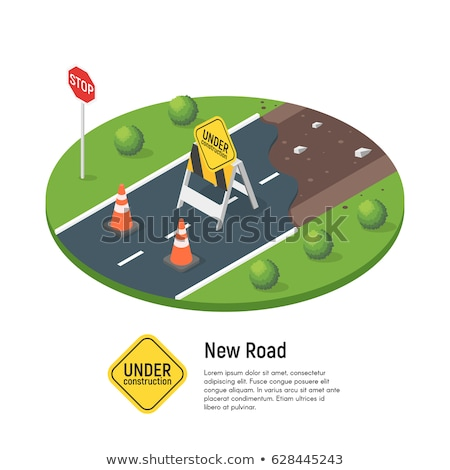 vector isometric illustration of building a new road stock photo © curiosity