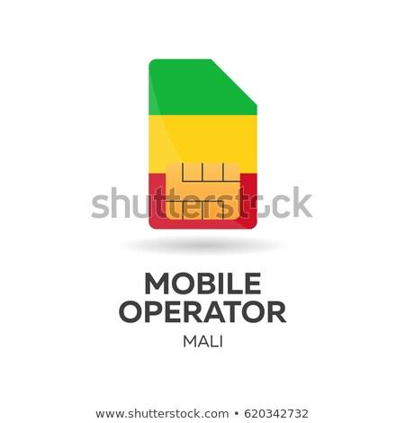 Mali mobile operator. SIM card with flag. Vector illustration. Stock photo © Leo_Edition