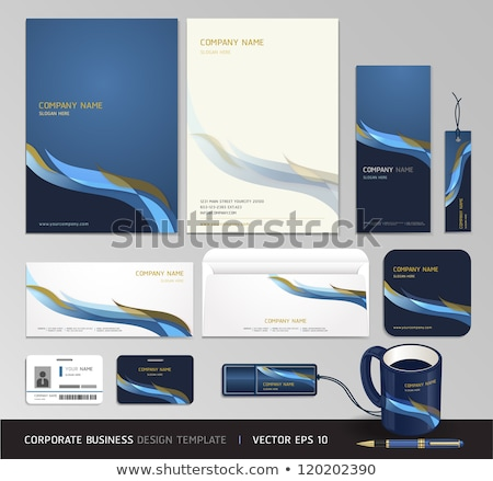 corporate identity stationery template design set with abstract  Stock photo © SArts