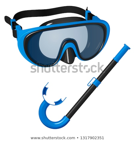 Tube for diving (snorkel) and mask isolated on white background Stock photo © kayros