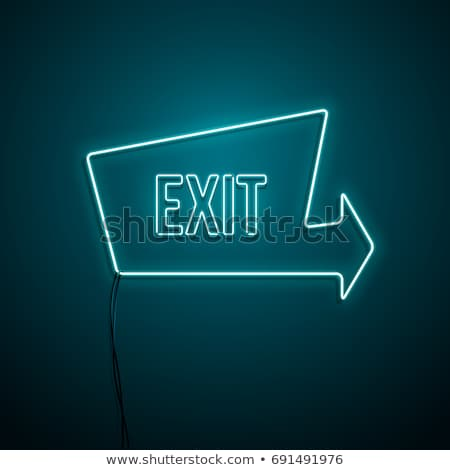 neon sign of exit Stock photo © ssuaphoto