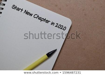 nieuwe · hoofdstuk · illustratie · computerscherm · shot · business - stockfoto © unikpix