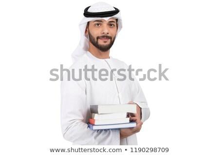 biznesmen · student · czytania · książki · odizolowany · biały - zdjęcia stock © elnur