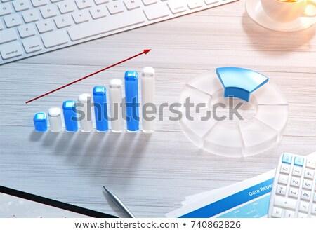 lehetőségek · fenyegetések · lineáris · szöveg · nyíl · notebook - stock fotó © tashatuvango
