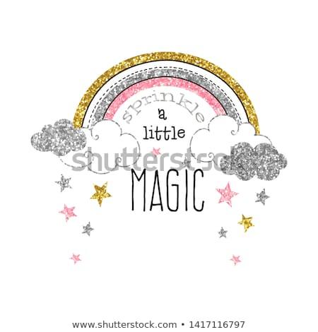 Motywacja magic plakat zacytować sen tkaniny Zdjęcia stock © barsrsind