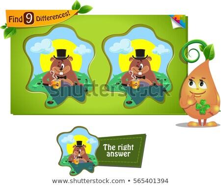 Foto stock: Día · juego · diferencias · ninos · adultos · tarea