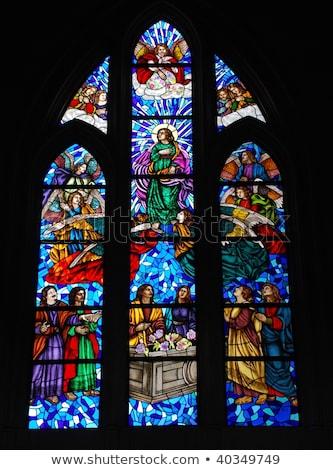 Katedral Portekiz Bina cam kilise İncil Stok fotoğraf © inaquim