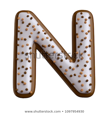 letter n candies chocolate stock photo © olena