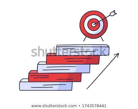 achieving career goals concept with doodle design icons stock photo © tashatuvango
