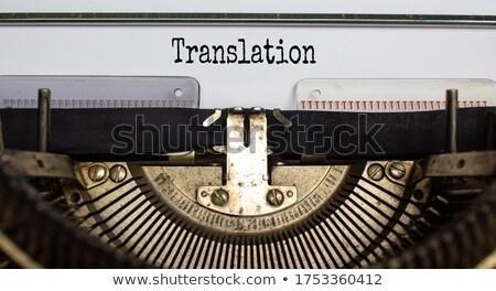 Traduzione libri forma domande icona lineare Foto d'archivio © Olena
