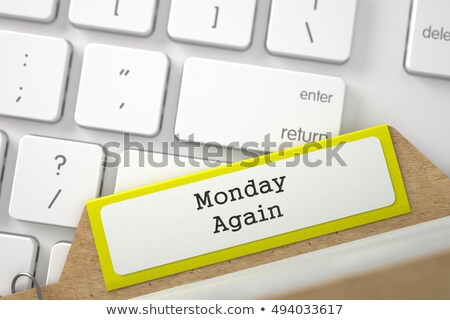 card file with monday again 3d stock photo © tashatuvango