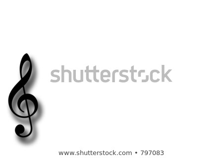 animated treble clef, Stock photo © Olena