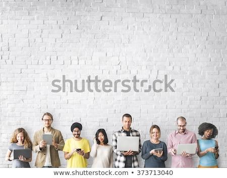kobieta · podział · sukces · działalności · drzewo · liści - zdjęcia stock © is2