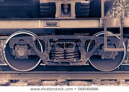 Fret trains vieux locomotive modèle Photo stock © JanPietruszka