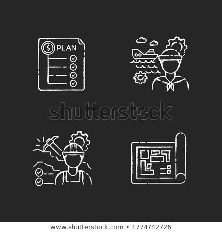 Utrzymanie budżet gryzmolić projektu ikona napis Zdjęcia stock © tashatuvango
