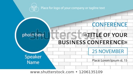 online conference on white brick wall stock photo © tashatuvango