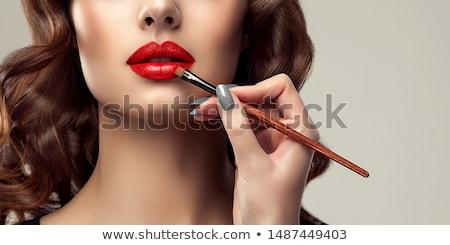 woman with eyebrows brush in hand Stock photo © LightFieldStudios