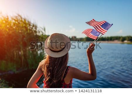 bayrak · Amerika · Birleşik · Devletleri · gün · boyalı · fırçalamak - stok fotoğraf © oakozhan