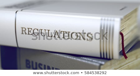 Protection. Book Title on the Spine. Stock photo © tashatuvango