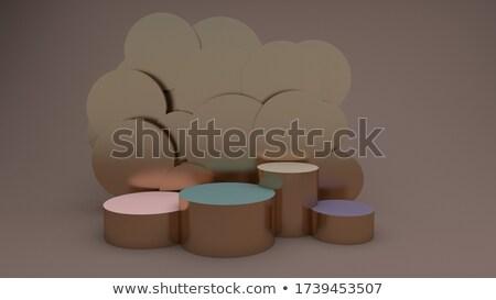 Fém henger pódium három rang renderelt kép Stock fotó © Oakozhan