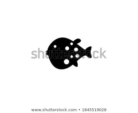 cartoon · vis · bubbels · icon · glimlach · achtergrond - stockfoto © nikodzhi