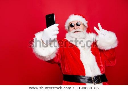 Kerstman glimlach geïsoleerd witte christmas nieuwjaar Stockfoto © NikoDzhi