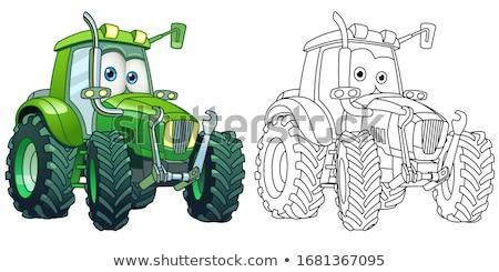 Trator desenho animado fazenda veículo ilustração fundo Foto stock © Krisdog