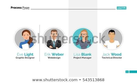 Csapat bemutató infografika terv weboldal vektor Stock fotó © blumer1979