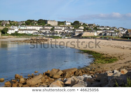 Porthcressa beach and a calm sea, Isles of Scilly, Cornwall UK. Stock photo © latent