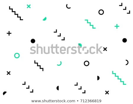 Geometric vector pattern, square abstract shapes seamless background, hipster monochrome decoration  Stock photo © RedKoala