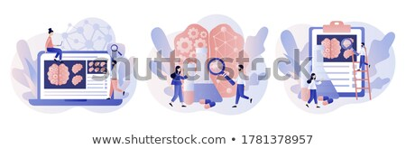 Brain cartoon set. vector stock photo © Andrei_