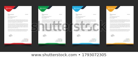 単純な レターヘッド ベクトル デザインテンプレート 印刷 企業 ストックフォト © SArts