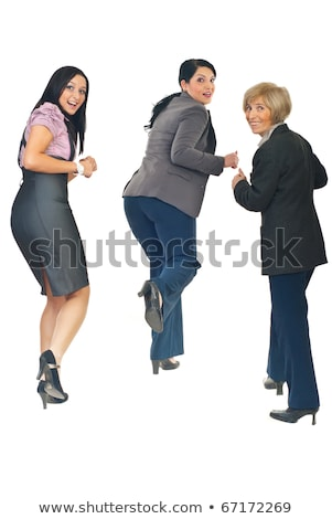 женщину глядя назад кто-то рабочих улыбаясь Сток-фото © IS2