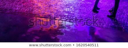 Adulte vie nocturne néon lumière brique ville Photo stock © ssuaphoto