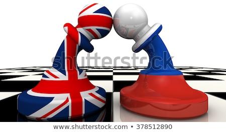 Conflict groot-brittannië Rusland rechthoekig vlaggen donkere Stockfoto © romvo