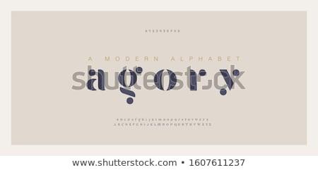 ábécé 3D vágási körvonal terv háttér felirat Stock fotó © paviem