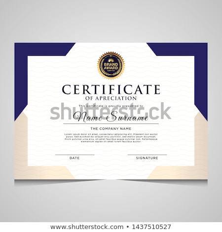 Stock fotó: Absztrakt · bizonyítvány · sablon · terv · vektor · háttér
