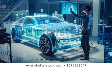 техник реальность гарнитура сервер комнату человека Сток-фото © wavebreak_media