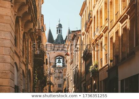 Bordeau · város · fal · kék · építészet · torony - stock fotó © FreeProd