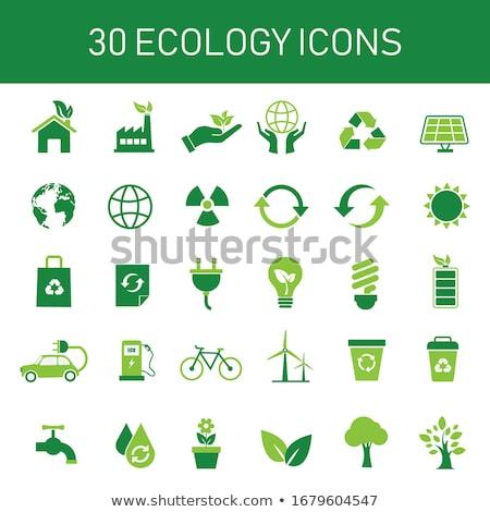 Salvar verde mão humana grama verde Foto stock © psychoshadow