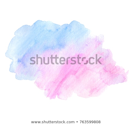 blue and pink watercolor painted vector stain isolated on white stock photo © balasoiu