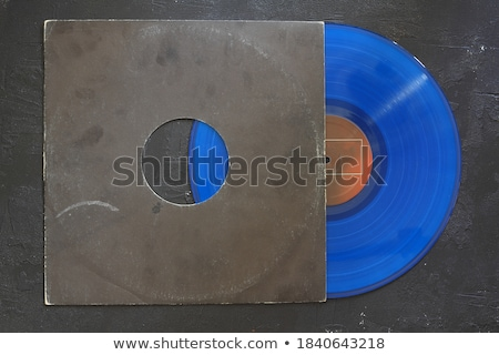 Citromsárga bakelit lemez fekete papír boríték Stock fotó © Taigi
