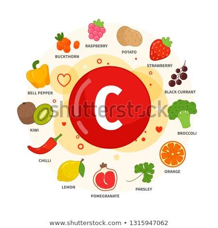 Terhesség táplálkozás vitaminok friss egészséges étel enyém Stock fotó © JanPietruszka