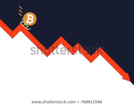 Zuhan bitcoin grafikon csökkenés virtuális pénz Stock fotó © popaukropa