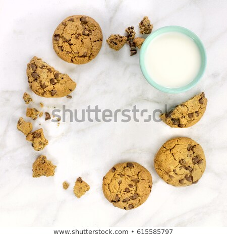 ミルク クッキー 層 コーヒー ガラス チョコレート ストックフォト © Walmor_