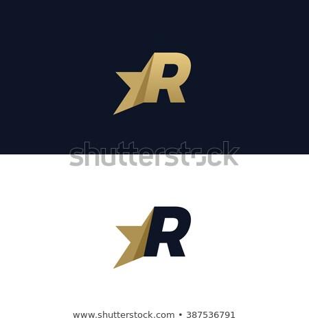best letter R logo design set Stock photo © krustovin